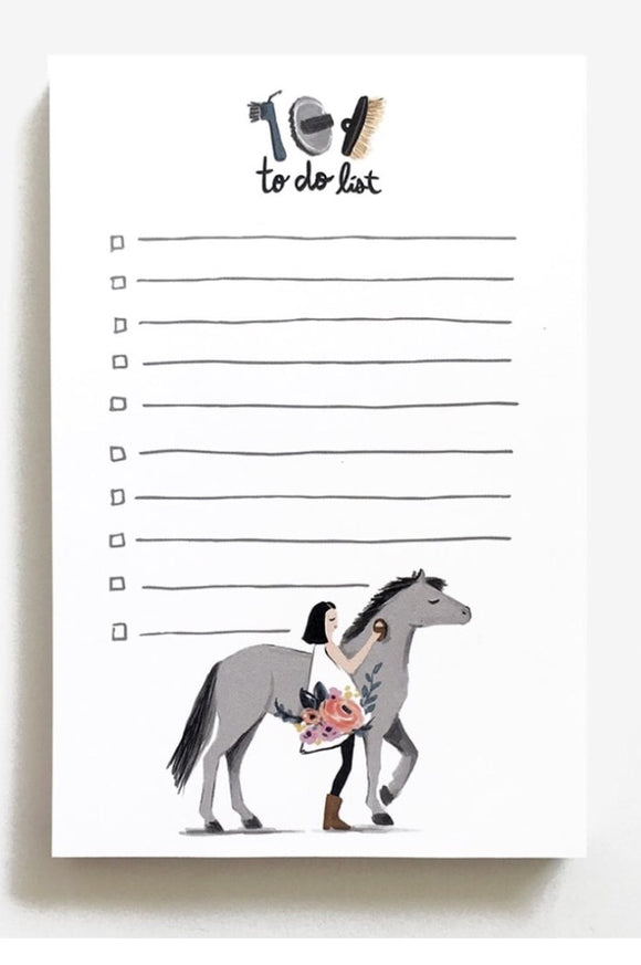 Pretty Pony To-do Notepad