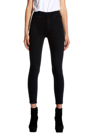MARILYN SKINNY BLACK SILK