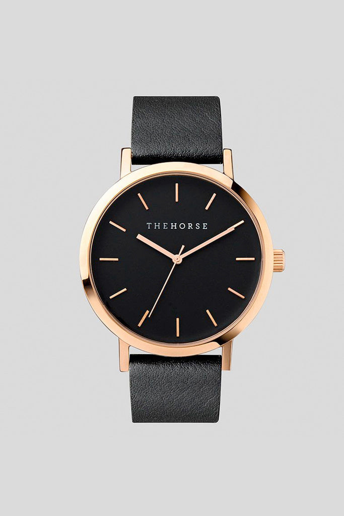ROSE GOLD / BLACK LEATHER (ORIGINAL) - The Meadow Bendigo - the horse - watches online fashion boutique - 1