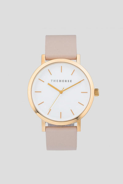 POLISHED ROSE GOLD / BLUSH LEATHER (ORIGINAL) - The Meadow Bendigo - the horse - watches online fashion boutique - 1