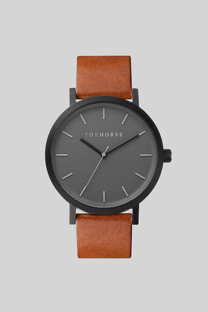 MATTE BLACK / TAN LEATHER (ORIGINAL) - The Meadow Bendigo - the horse - watches online fashion boutique - 1
