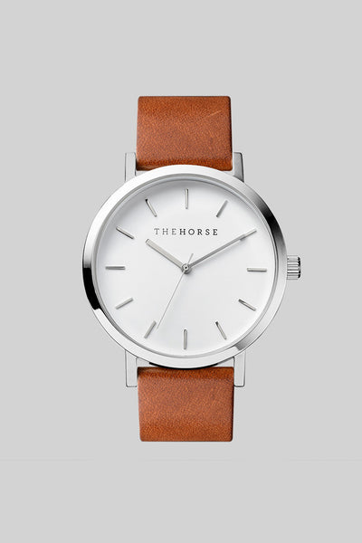 ORIGINAL WATCH (polished steel / tan)