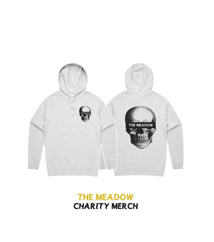 CHARITY SKULL HOOD (White Grey)