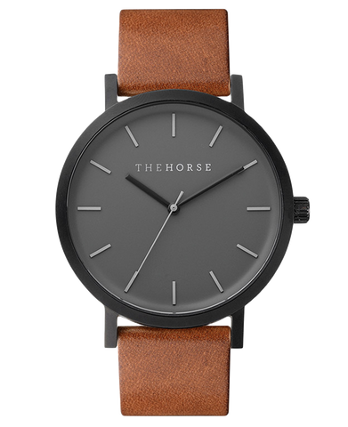 ORIGINAL WATCH (A4- matte black / tan)