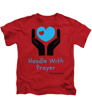 Handle With Prayer - Blue - ThinkerThreads - Kids T-Shirt - By ThinkerNation