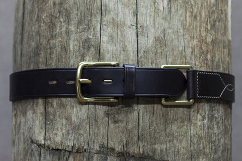 Leather Square Hobble Belt 37mm