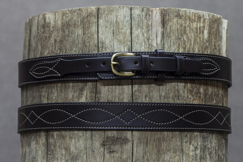 Leather Rodeo Ranger Belt 37mm