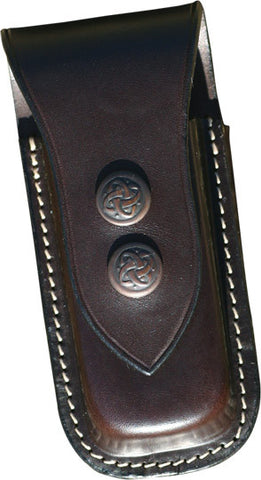 Leather Leatherman Two Clip Knife Pouch Small