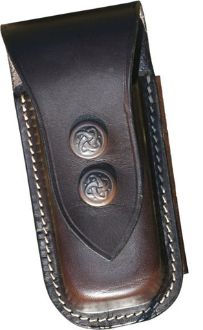 Leather Leatherman Two Clip Knife Pouch Large