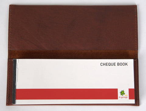 Leather Cheque Book Cover 100 page