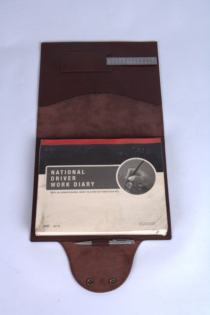 leather truck logbook cover rugged luxury by pack saddle leather