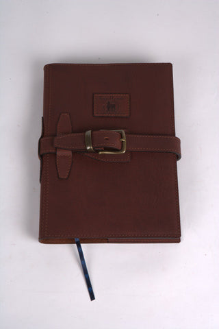 Leather A4 Diary Cover with Strap