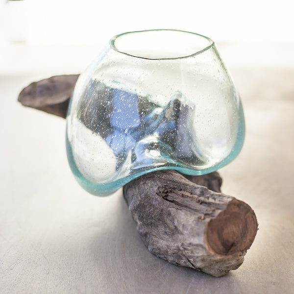 Driftwood and Glass Vase No. 5