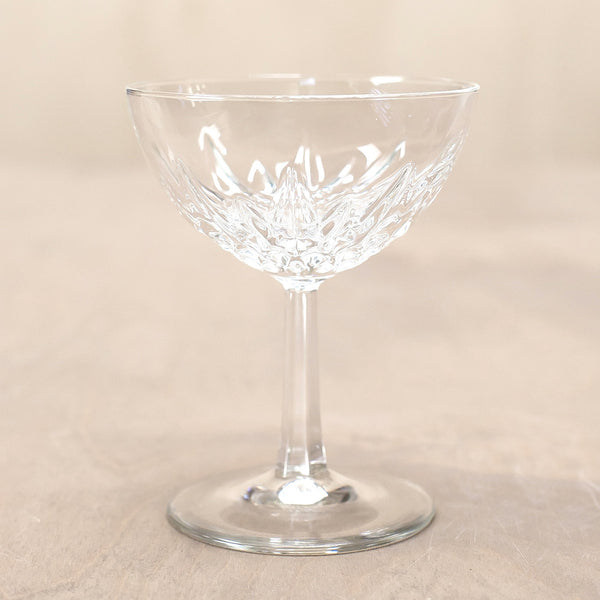 Cut Glass Champagne Coupes