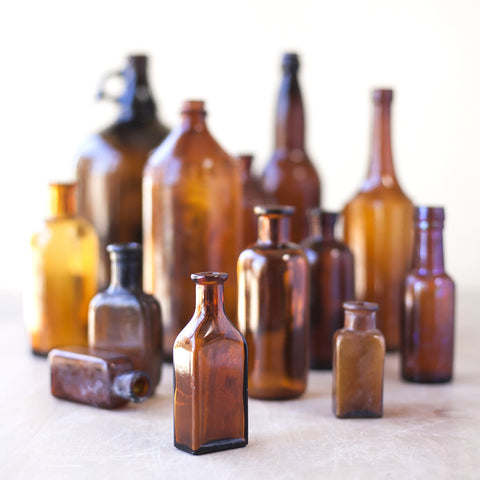 Vintage Brown Bottles