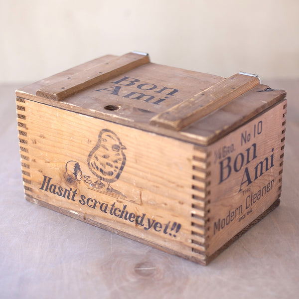 Vintage Bon Ami Wood Box