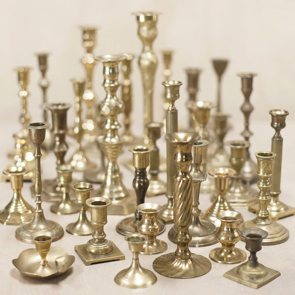 Vintage Brass, Assorted Candlesticks