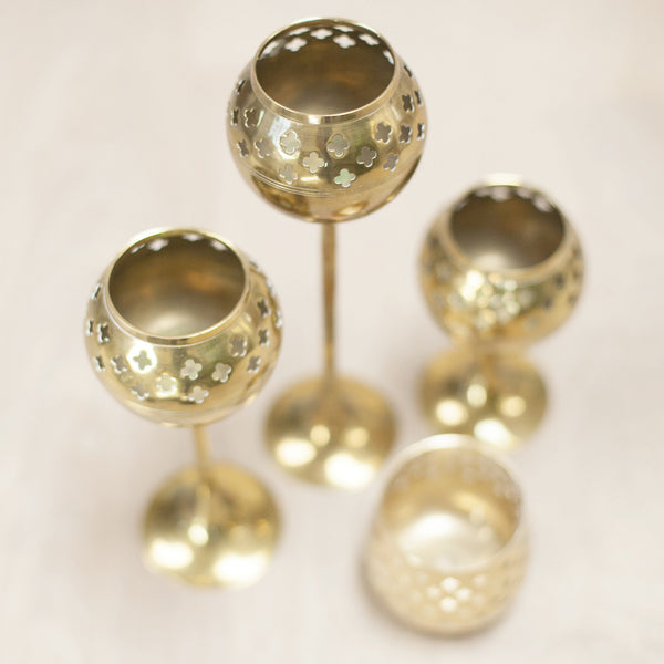 Vintage Brass Tealight Votives