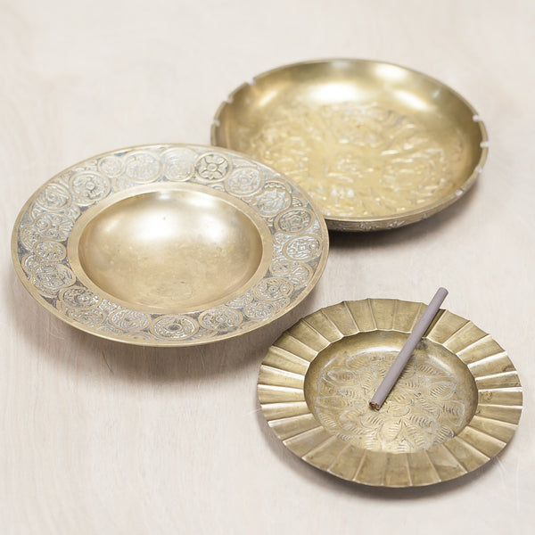 Vintage Brass Ashtrays