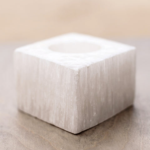 Diamond Shaped Selenite Votives
