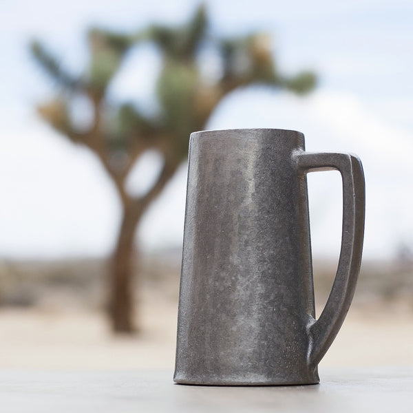 Vintage Pewter Toasting Mug with Bell