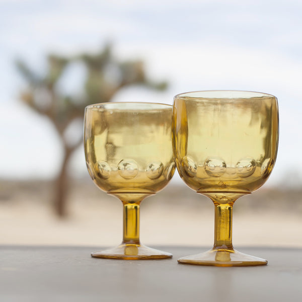 Vintage Gold Glass Goblets