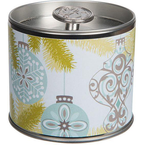 Silver Spruce Tin Candle