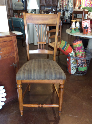 Counter Height Striped Chairs