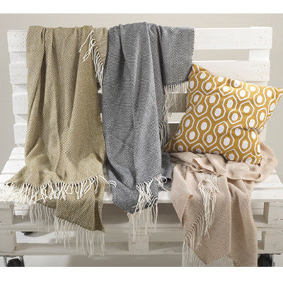 Charlotte Design Throw Olive