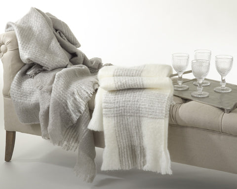 Faux Mohair Throw Cream