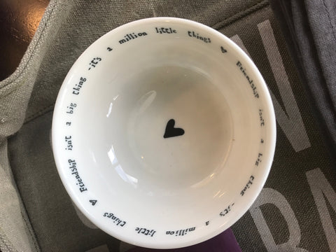"""Friendship"" Bowl Dish"