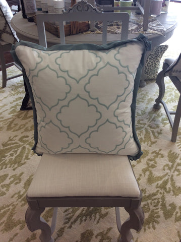 Aqua Quatrefoil Pillow