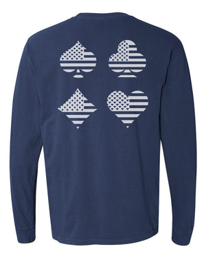 RUNGOOD Four Suits Navy Long Sleeve