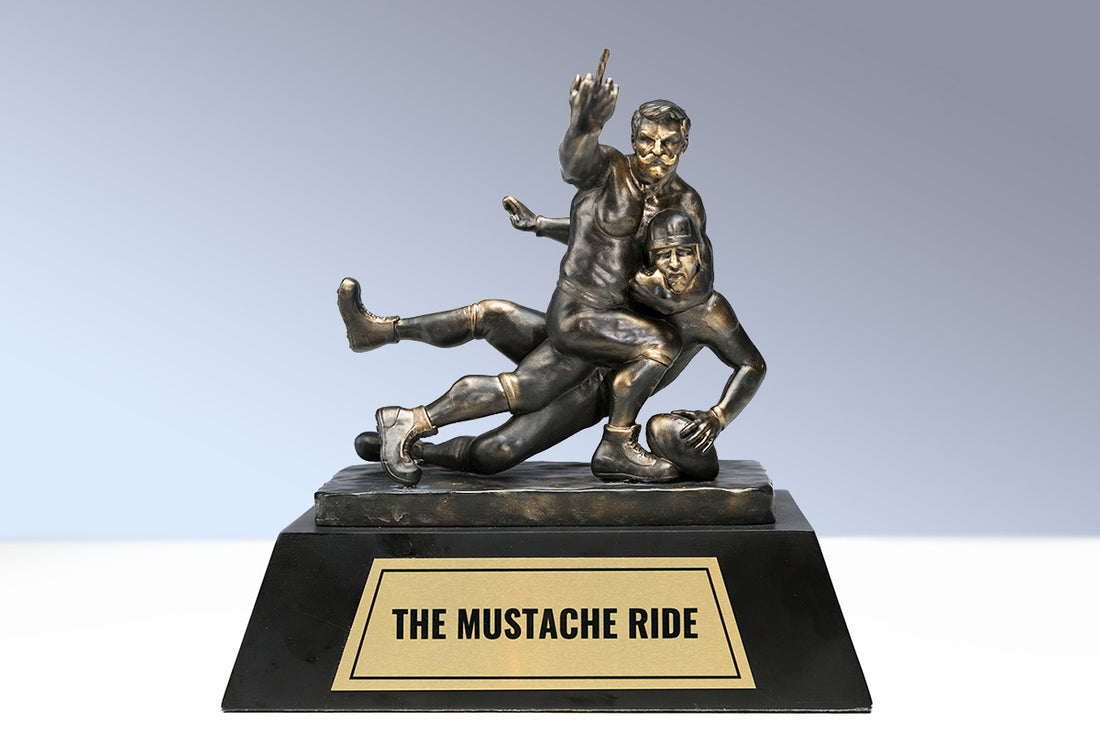Fantasy Football Trophy: 'Mustache Ride'