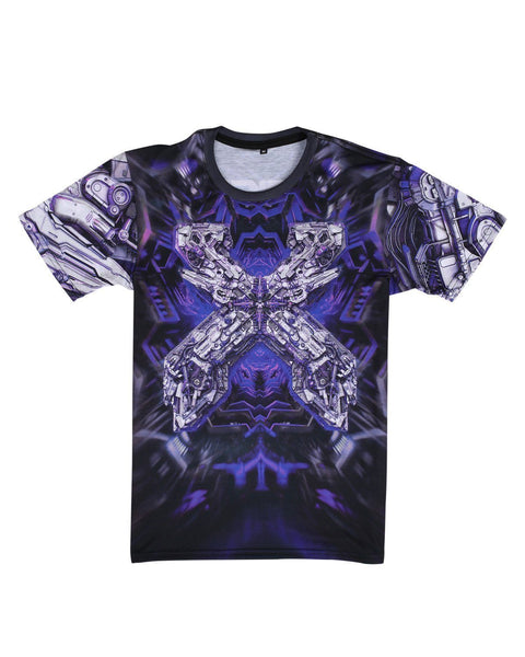 "Excision 'The Paradox 2017"" Dye Sub Tour T-Shirt - Black/Purple"