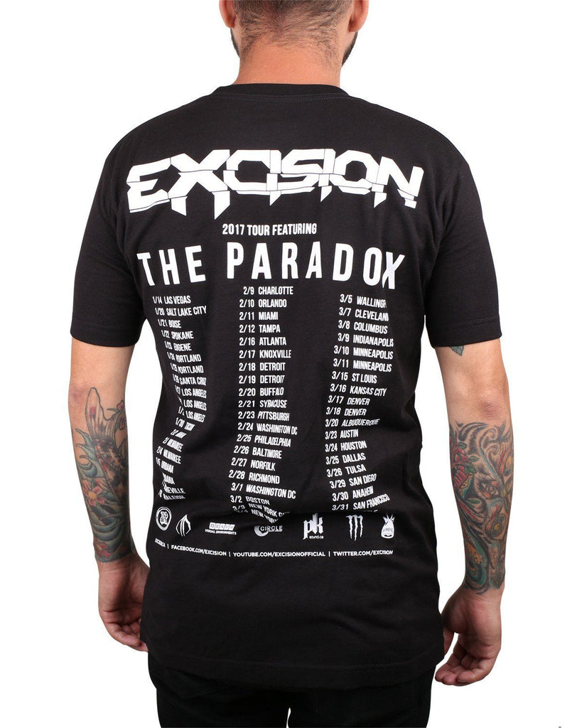 Excision 'The Paradox 2017' Tour T-Shirt - Black/White