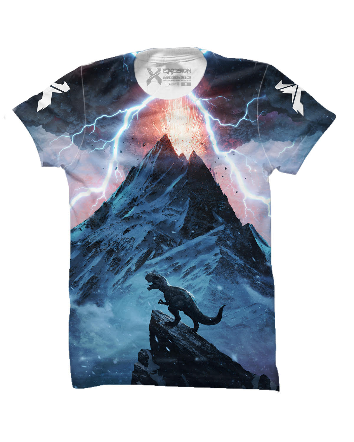 Excision 'Apex' Dye Sub T-Shirt - Blue/Black