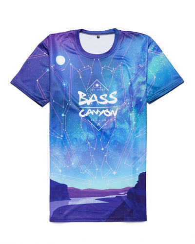 Bass Canyon 2018 Lineup DyeSub Tee - Blue/Green