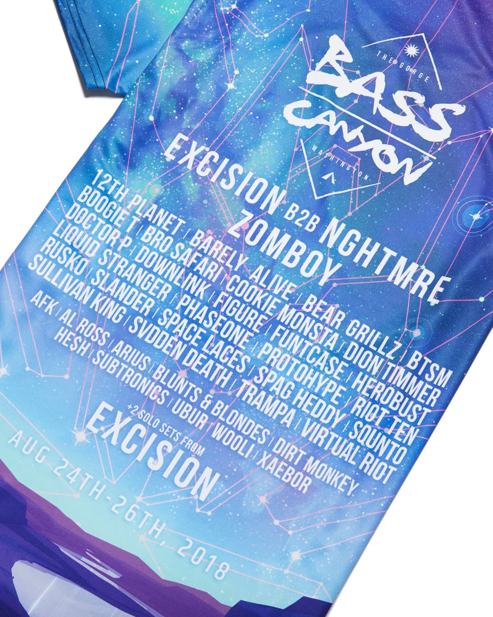 Official Bass Canyon 2018 'Daybreak' Tee - Blue/Green