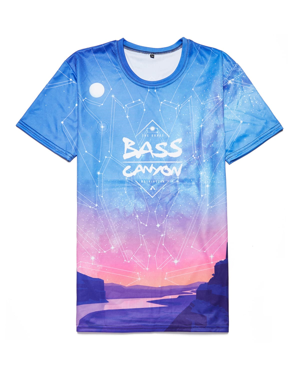 Official Bass Canyon 2018 'Sunset' Tee - Blue/Pink