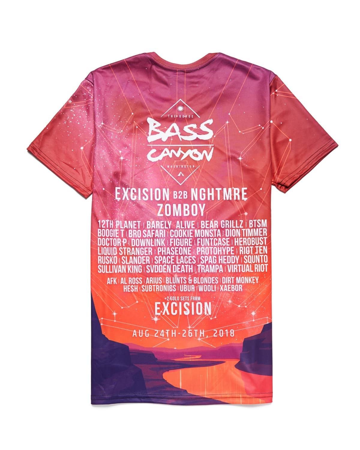 Official Bass Canyon 2018 'Heatwave' Tee - Red