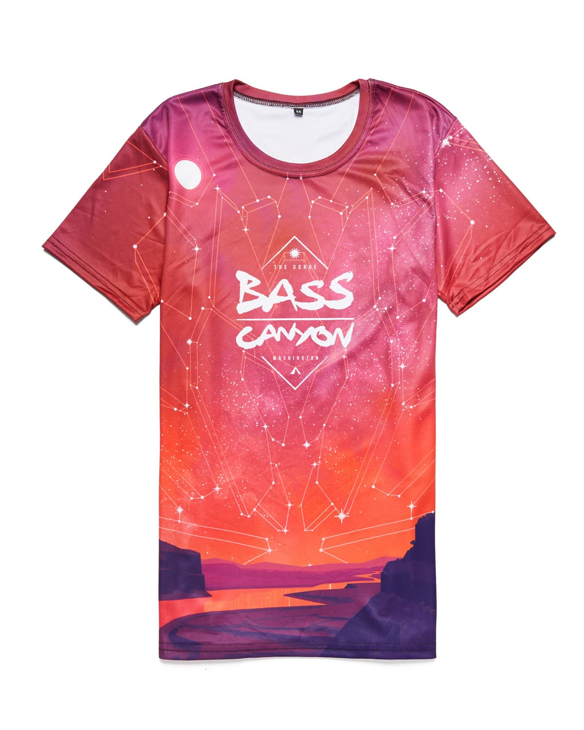 Bass Canyon 2018 Lineup DyeSub Tee - Red