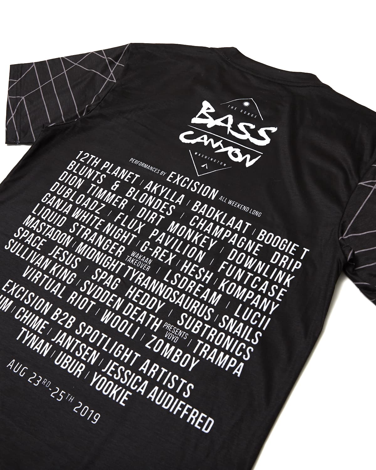 Official Bass Canyon 2019 Line Up Tee
