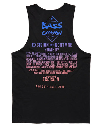 Bass Canyon 2018 Festival Lineup Tank - Black