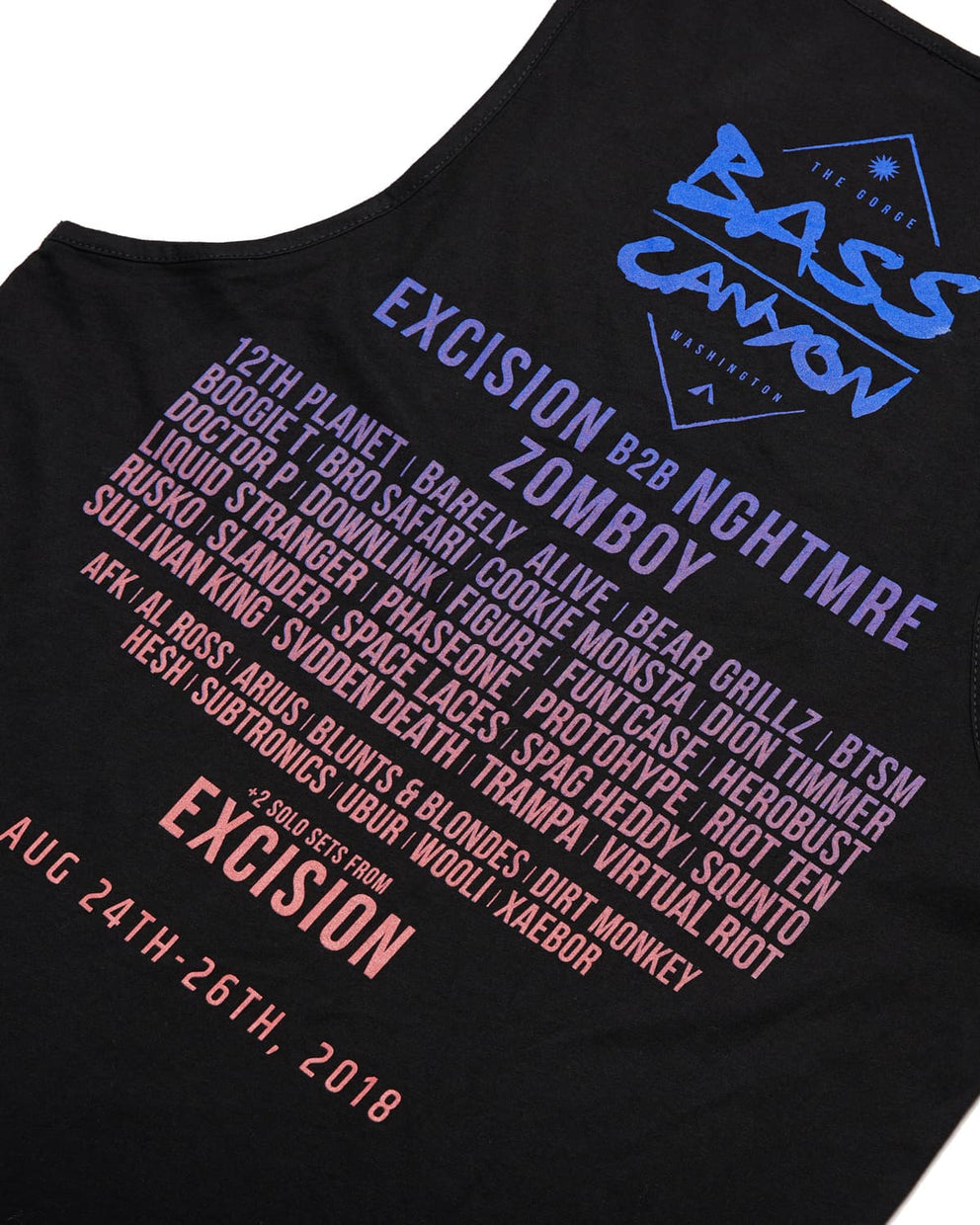 Official Bass Canyon 2018 Tank - Black