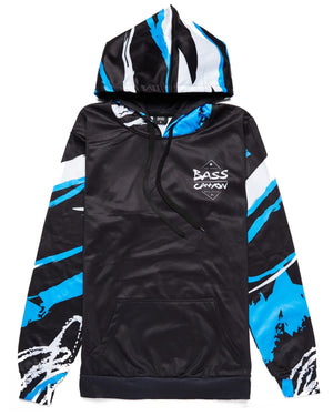 Bass Canyon 'Swirls' Hoodie - Black/Blue/White