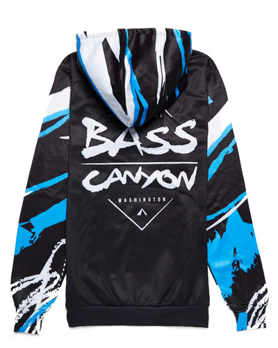 Bass Canyon 'Logo' DyeSub Hoodie - Black/Blue/White