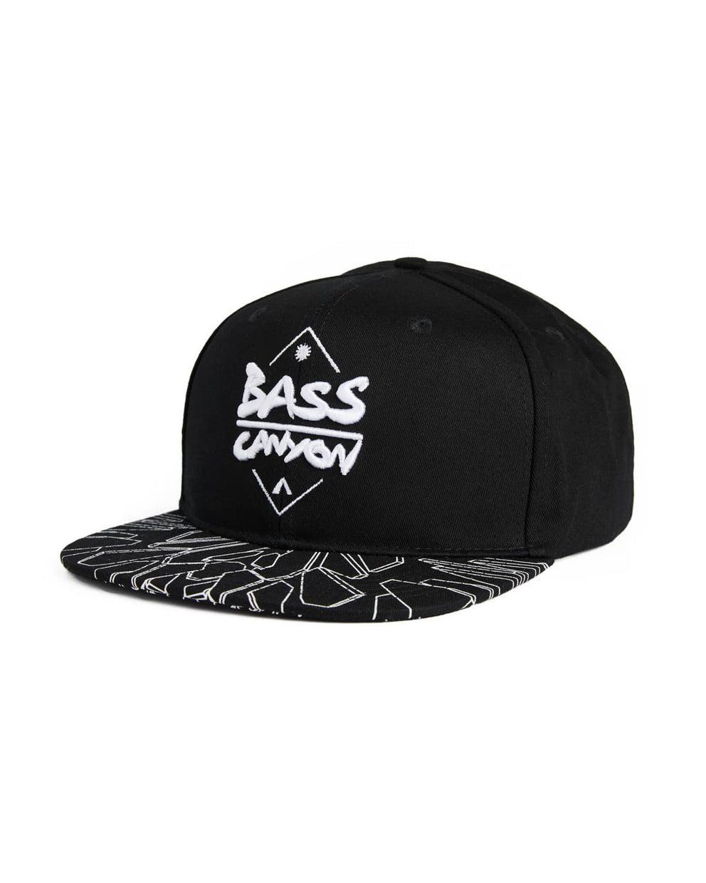 Bass Canyon Snapback - Black/White