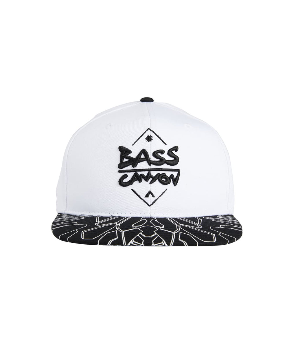 Bass Canyon Snapback - White/Black