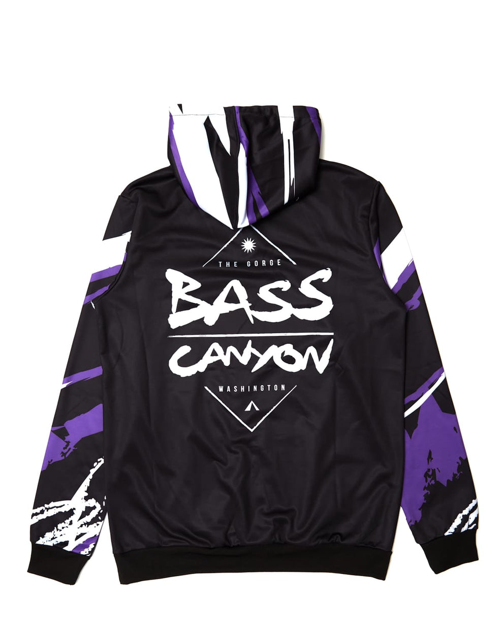Bass Canyon 'Swirls' Hoodie - Black/Purple/White